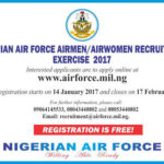 NAF 2017-2018 Recruitment Application Registration Form is Here – Download Form