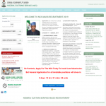 Is www.ncsrecruitment.com.ng real Customs recruitment Portal