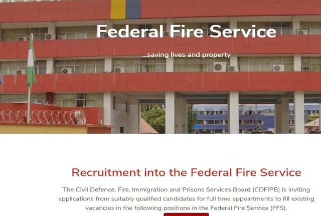 FFS Recruitment 2020/2021 Form - Apply Here Now