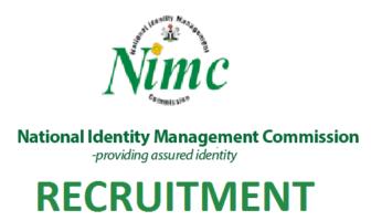 NIMC recruitment 2020